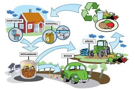 Hållbara system för biogas från avlopp och matavfall i H+ området